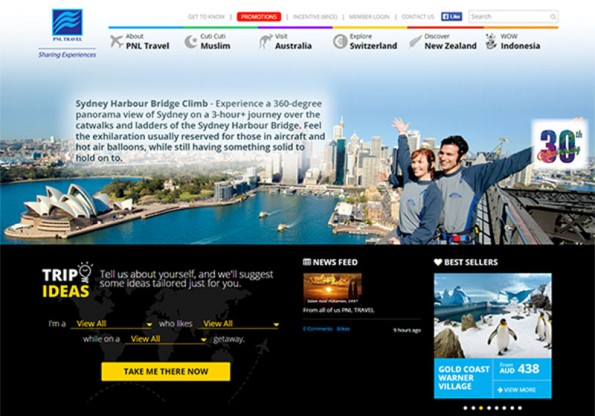 PNL Travel  website